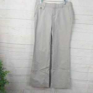 Banana Republic Khaki Flare Flat Career Pants 2